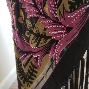 Cache Skirts - Silk Beaded Skirt